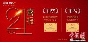 """蓝光发展荣膺""""2020中国房地产百强企业""""TOP21"""
