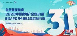 中房协发布:融侨集团荣膺2020中国房地产企业31强